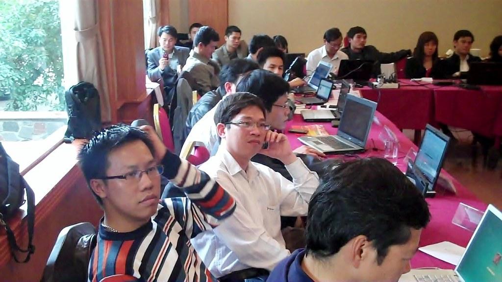 Journalism training in Hanoi, Vietnam. Image by David Brewer shared via Creative Commons