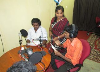 Radio training in Jaffna, Sri Lanka. Image by David Brewer shared via Creative Commons BY-NC-SA 4.0