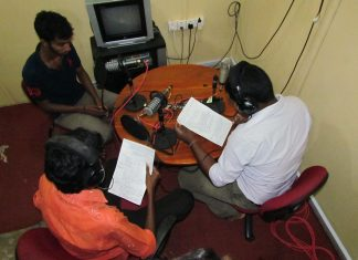 Radio training Jaffna, Sri Lanka. Image by David Brewer released via Creative Commons BY-NC-SA 4.0