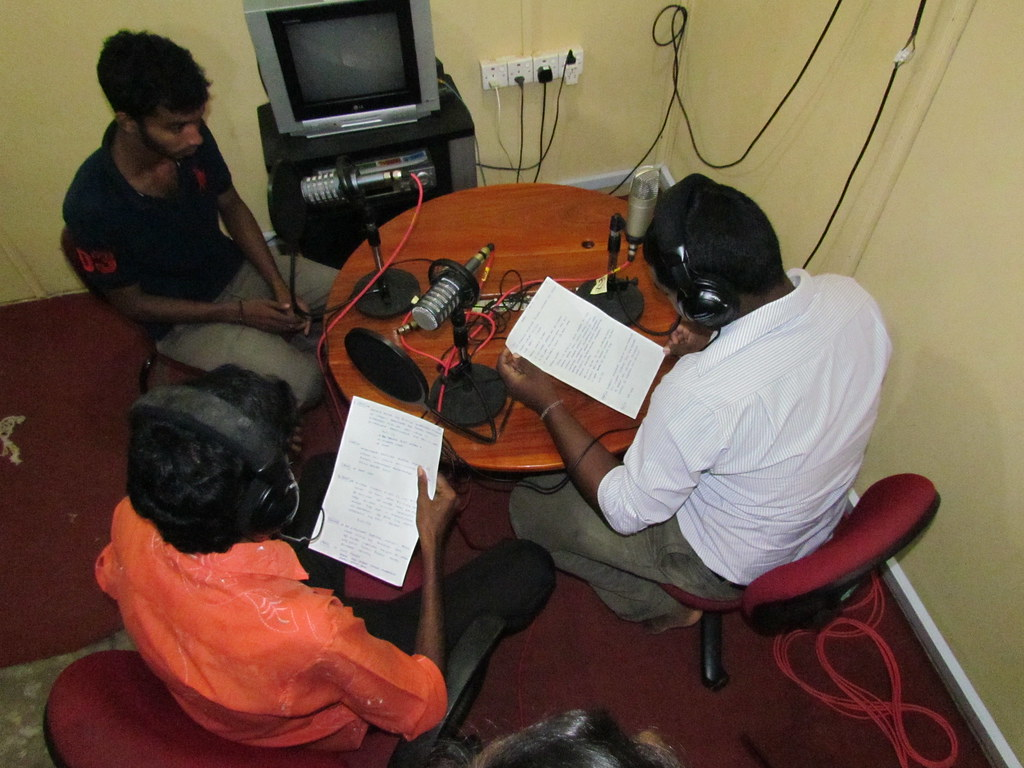 Radio training Jaffna, Sri Lanka. Image by David Brewer released via Creative Commons BY-NC-SA 4.0