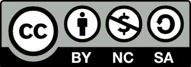 Creative Commons BY NC SA 4.0